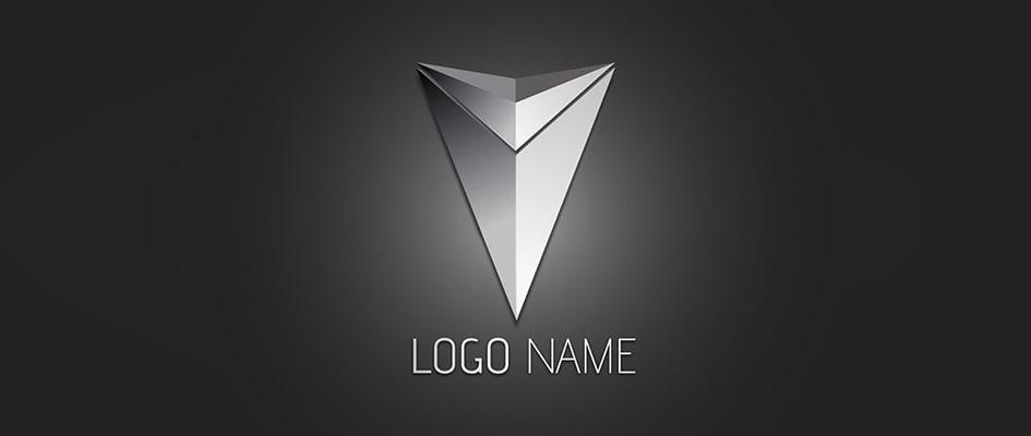 Тенденции в дизайне логотипов 2016 - трехмерные металлические логотипы