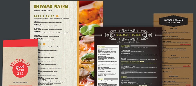 Виды дизайна меню для кафе/ресторана