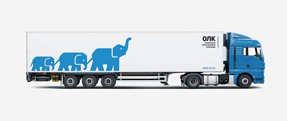 Разработка логотипа для компании грузоперевозок