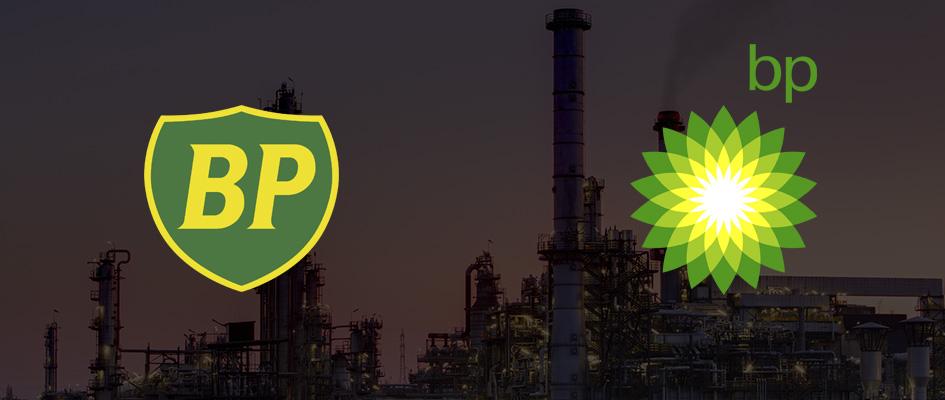Ошибка в логотипе British Petroleum, неудачный и плохой логотип