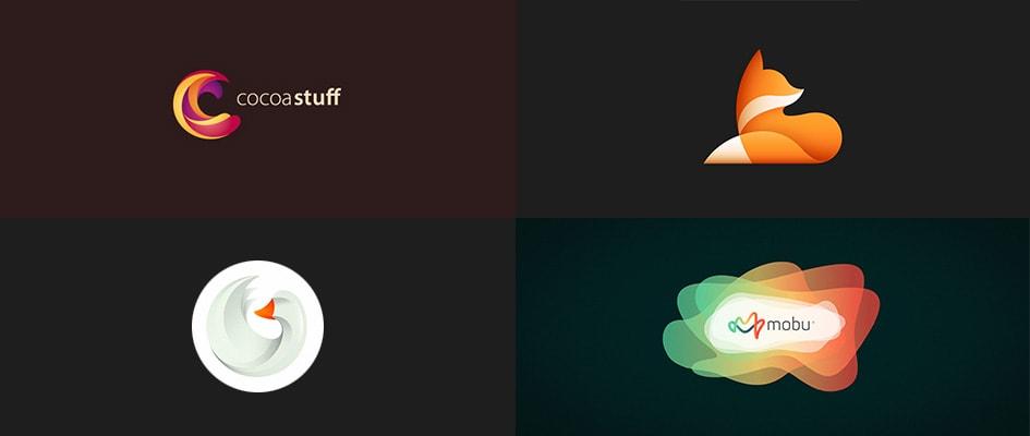 Тренд в дизайне логотипов #5: использование градиентов и цветов