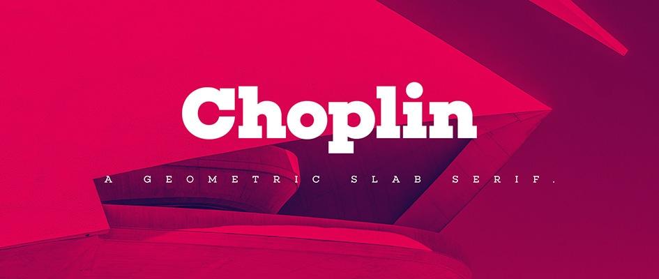 Шрифт Choplin