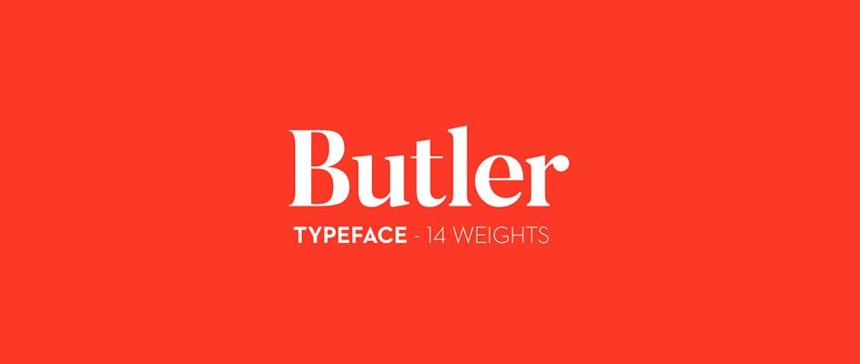 Шрифт Butler