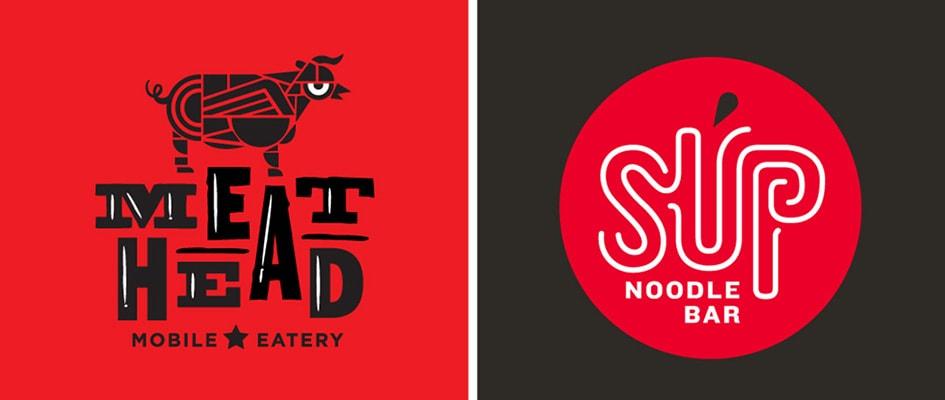 Выбор иконки, ее цвет и шрифт для лого кафе и ресторана