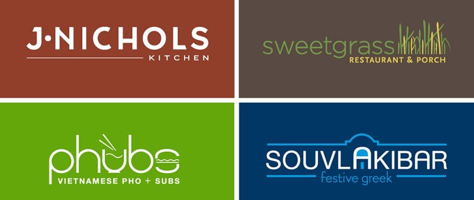 Виды логотипов для ресторанов/кафе