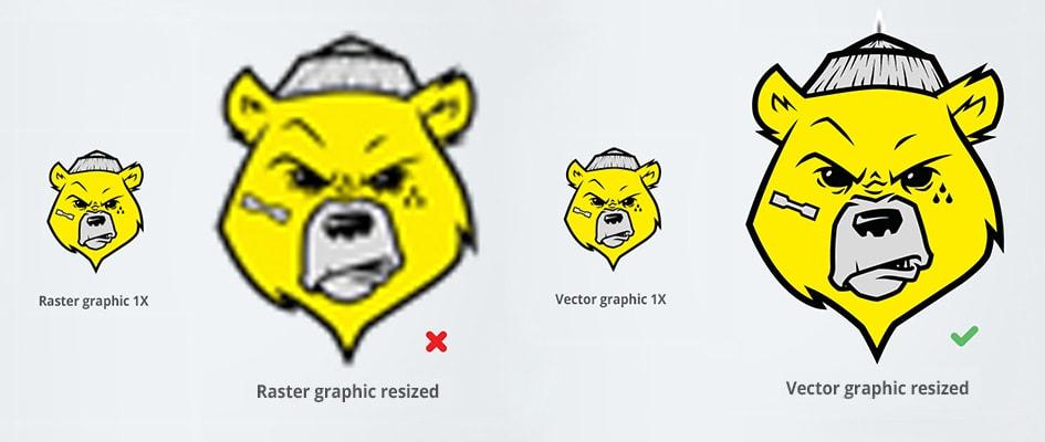 Сравнение векторной и растровой графики